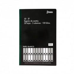 Libro Registro Ctas 100-3F 100 H Norma