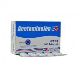 Acetaminofen X 500 Mlg