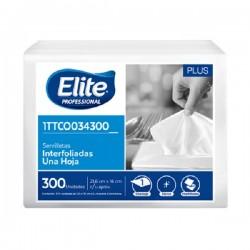 Servilleta Elite blanca 1 a 1 x300 unds