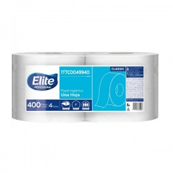 Papel Higienico Elite Hoja Sencilla X400 mts