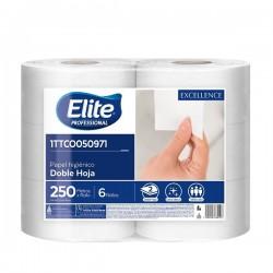 Papel Higienico Elite Doble hoja Extrablanco x 6 250 mts