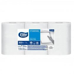Toalla de manos Elite Doble Hoja extra blanca x 3 Rollos 100 Mts