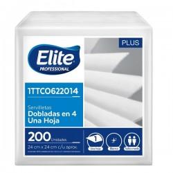 Servilleta Elite Blanca 24x24 x 200 und