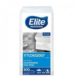 Servilleta Elite Blanca 1 a 1 X600